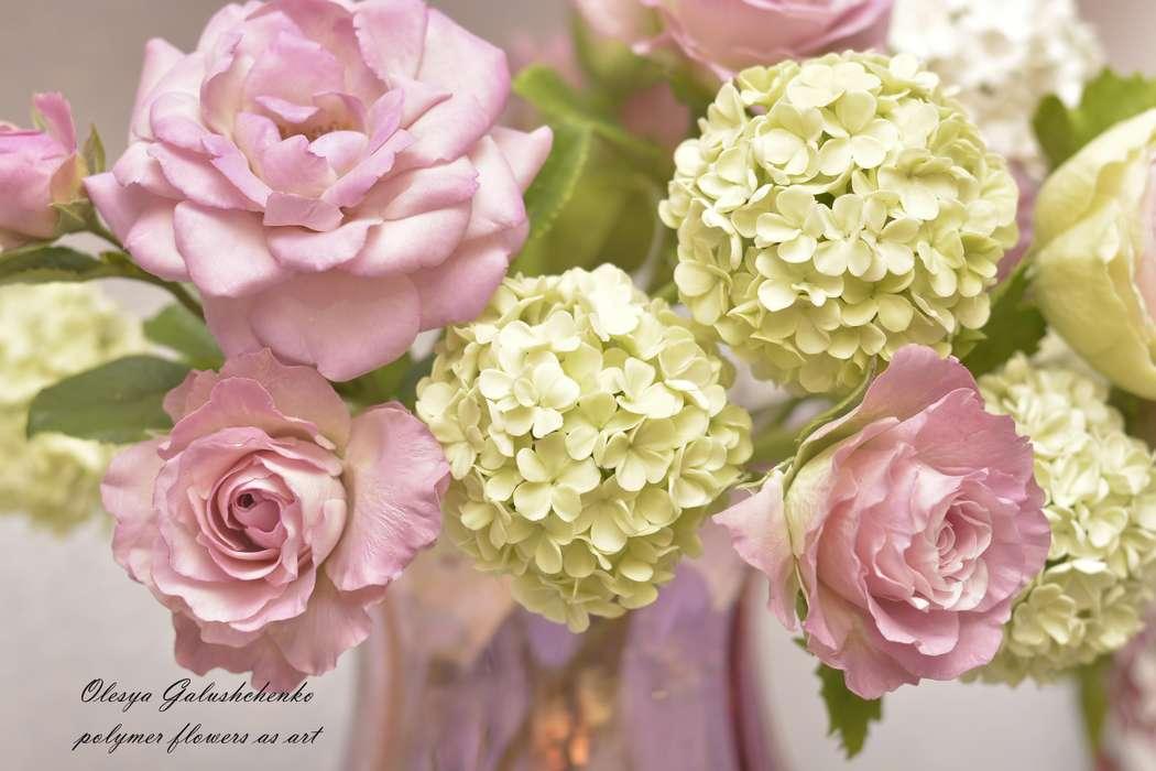 Цветы из полимерной глины - фото 13009554 Олеся Галущенко - свадебные аксессуары