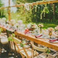 яркий и необычный декор стола!