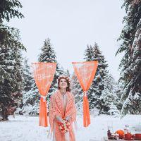Зимняя свадьба в лесу