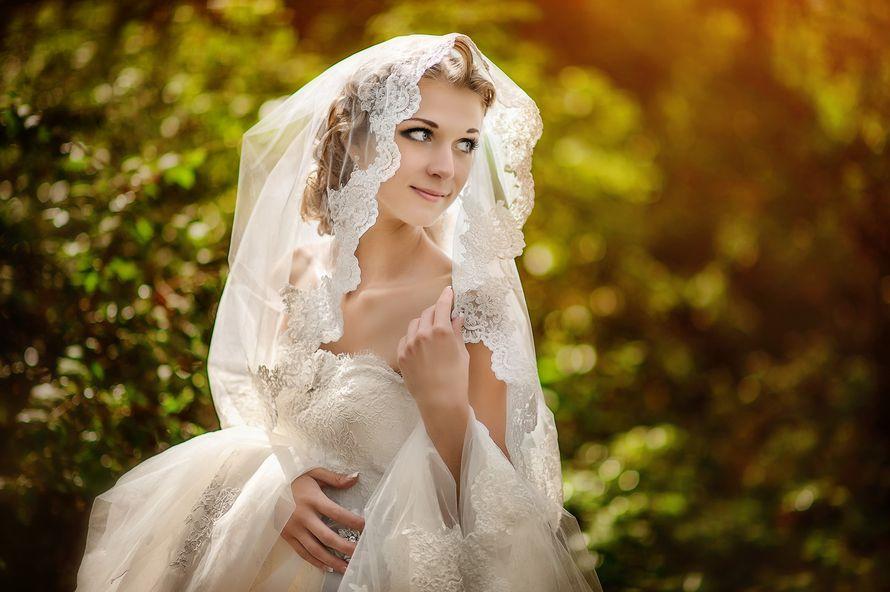 Волосы невесты покрывает прозрачная фата с кружевным краем - фото 1420381 Фотограф Ольга Климахина