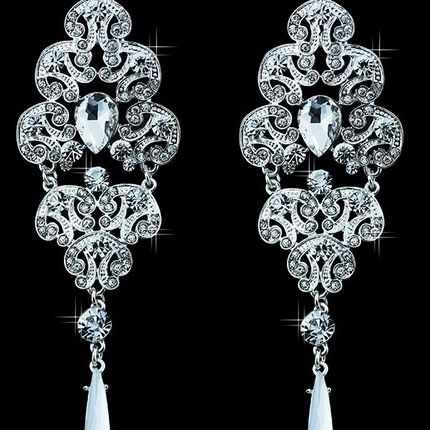 Серьги с австрийскими кристаллами