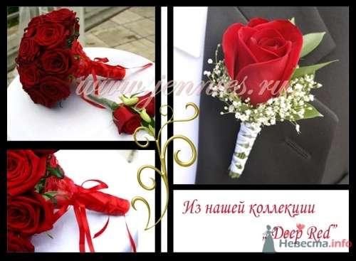 """Букет невесты из нашей коллекции """" Deep Red"""" - фото 12856 Флористическая студия """"Jennies"""""""
