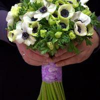 Свадебный букет из белых анемонов . Количество 49 шт. цена 5500 руб.