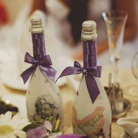 Декупаж бутылки. Организация и оформление свадьбы Тольятти.