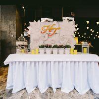 оформление стола жениха и невесты на свадьбе в стиле шебби шик