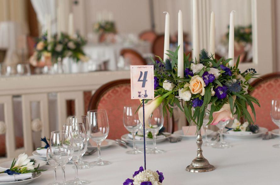 """синяя фиолетовая персиковая свадьба - фото 6443074 Студия флористики и декора """"Глориоза"""""""