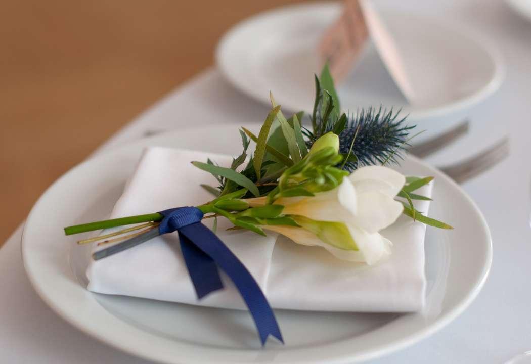 """синяя фиолетовая персиковая свадьба - фото 6443076 Студия флористики и декора """"Глориоза"""""""