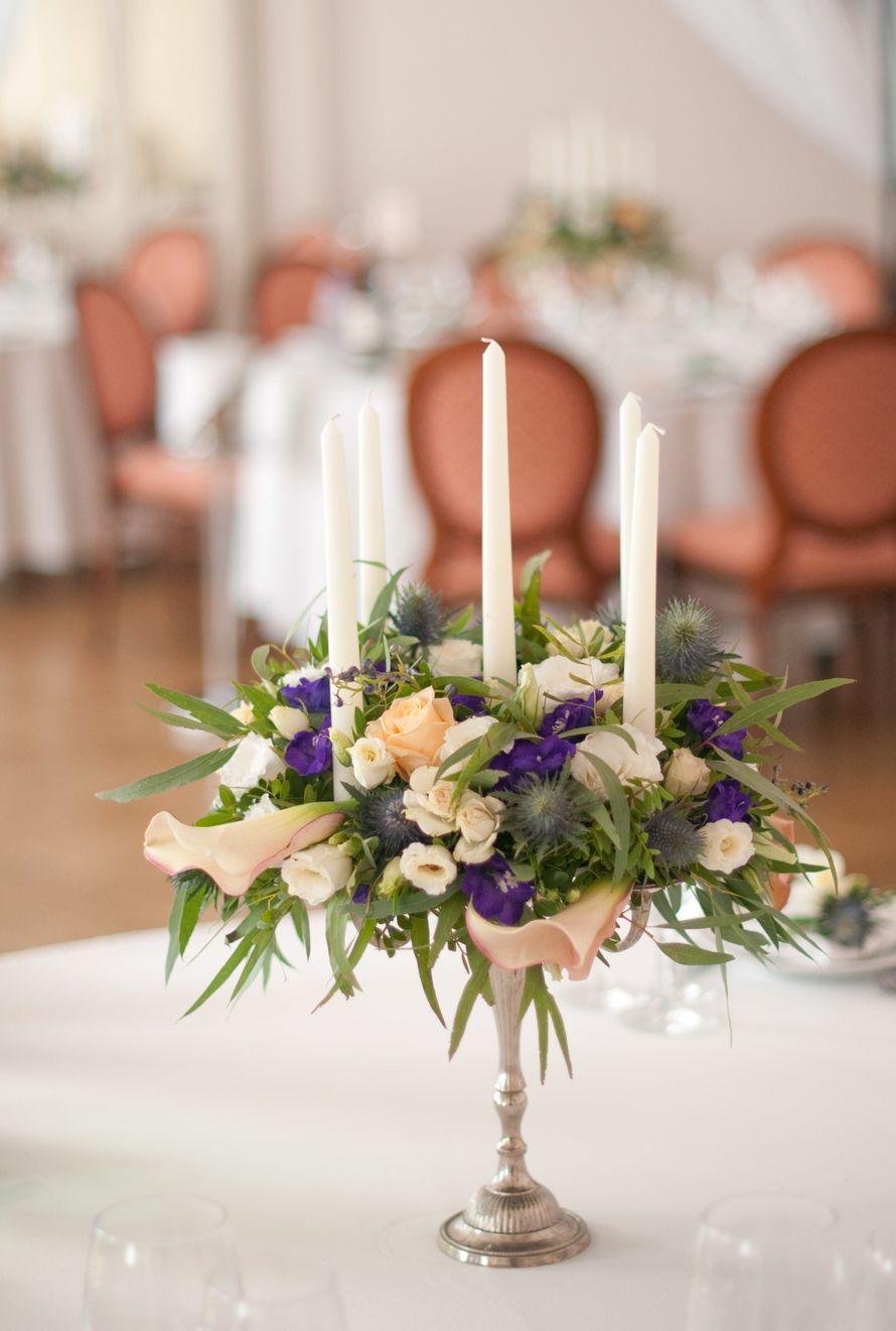 """синяя фиолетовая персиковая свадьба - фото 6443084 Студия флористики и декора """"Глориоза"""""""