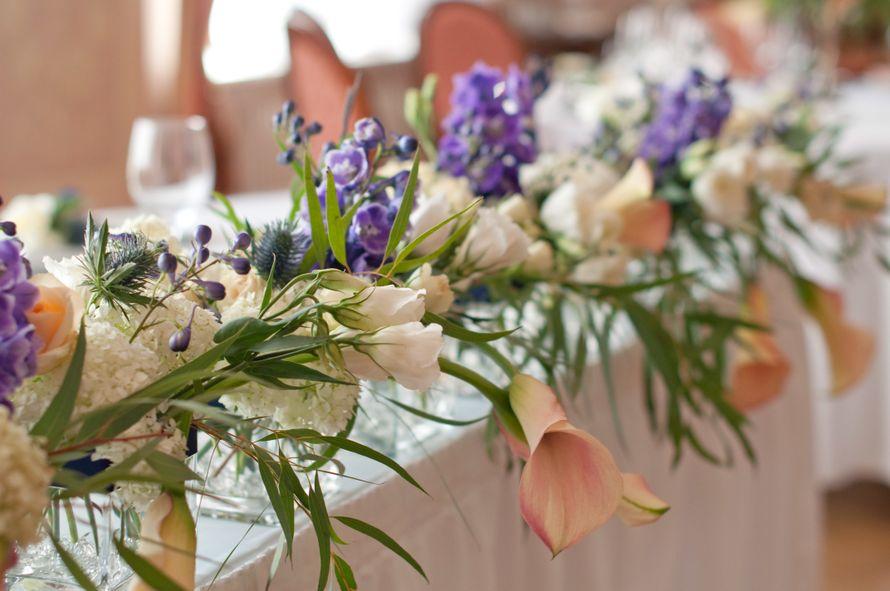 """синяя фиолетовая персиковая свадьба - фото 6443090 Студия флористики и декора """"Глориоза"""""""
