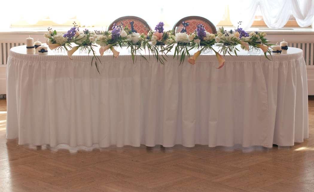 """синяя фиолетовая персиковая свадьба - фото 6443096 Студия флористики и декора """"Глориоза"""""""
