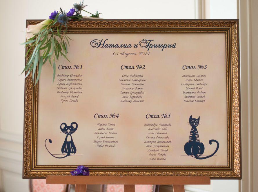 """кошки мышки синяя фиолетовая персиковая свадьба - фото 6443102 Студия флористики и декора """"Глориоза"""""""
