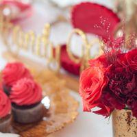 сладкий стол красный золотой