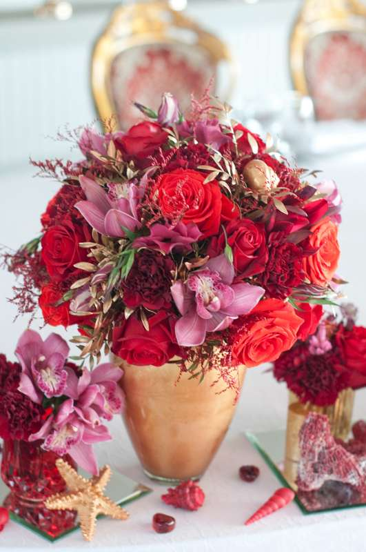 """золотая красная свадьба - фото 15795558 Студия флористики и декора """"Глориоза"""""""