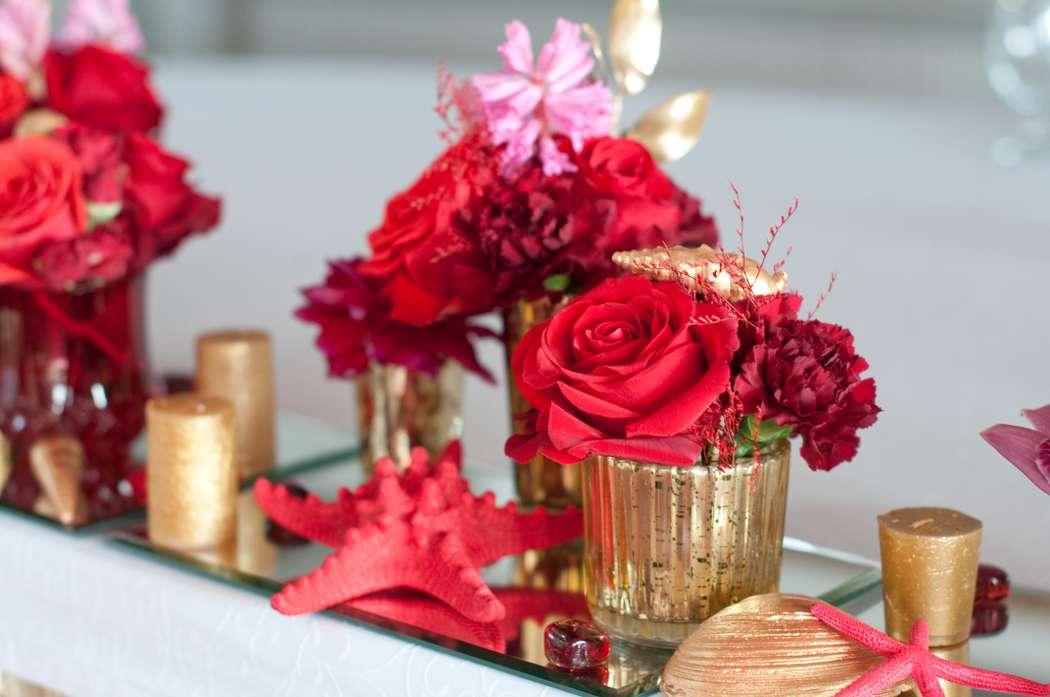 "красная морская свадьба - фото 15795562 Студия флористики и декора ""Глориоза"""