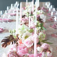 свадьба в медном и розовом цвете
