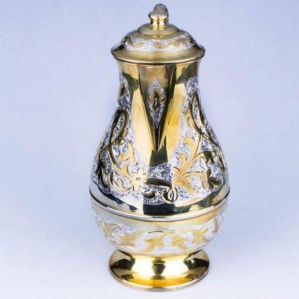 Позолоченный серебряный набор для воды Кубачи