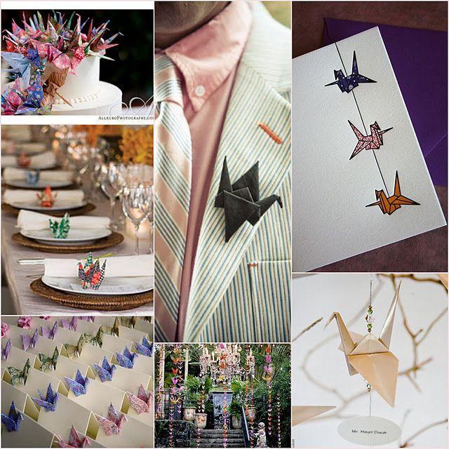 Открытки с оригами на свадьбу