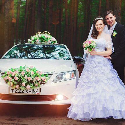 Свадебные украшения на автомобили