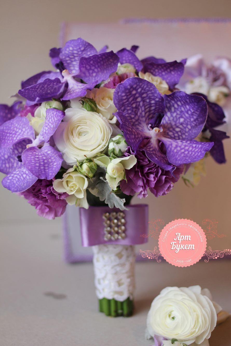 Букеты невесты из орхидей ванда, оптом каширское шоссе
