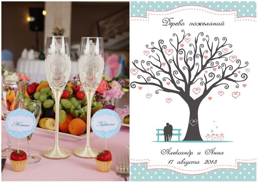 """Дизайн дерева для пожеланий и рассадных карточек. - фото 1680451 """"Несен Студио"""" - свадьба продуманная до мелочей"""