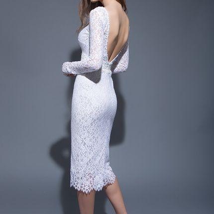 Кружевное платье, модель 16031