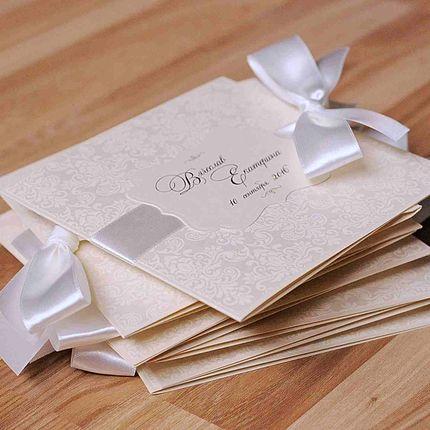 Приглашение из перламутрового картона