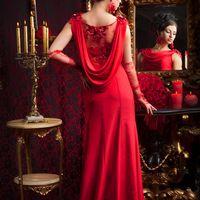 Платье с красным кружевом для подружки невесты