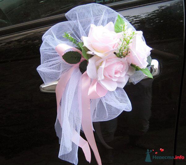 Цветы на ручки свадебных машин