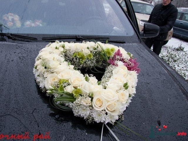Украшение на свадебную машину из цветов своими руками