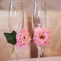 Оформление бокалов цветами