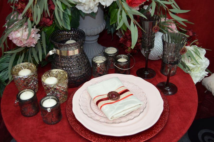 "Оформление салфетки цвета""Марсала"" - фото 4390607 Premiumflor - декор и флористика"