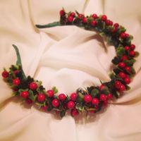 Ободки с ягодами своими руками