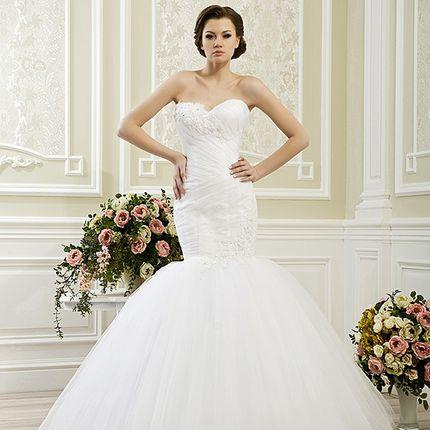 Свадебное платье рыбка А1179