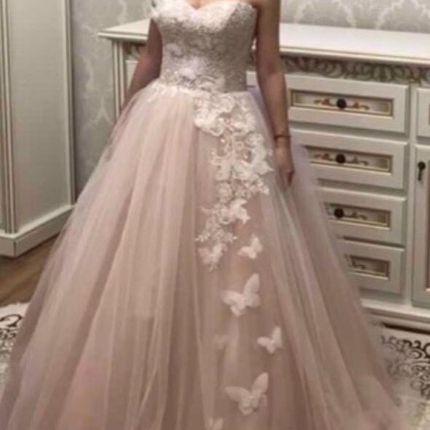 Платье с бабочками А1394 прокат