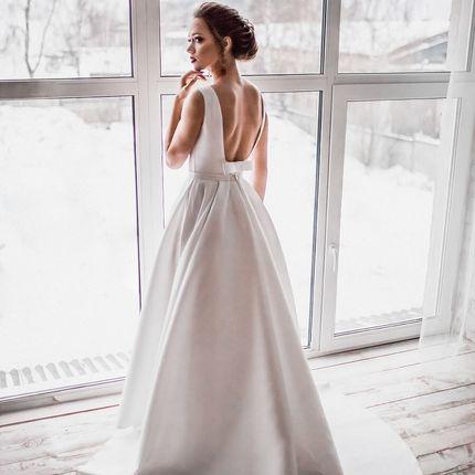 Свадебное платье со шлейфом А1426