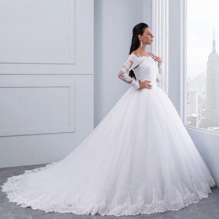 Свадебное платье со шлейфом А1469
