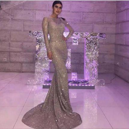Вечернее платье силуэта русалка А1506