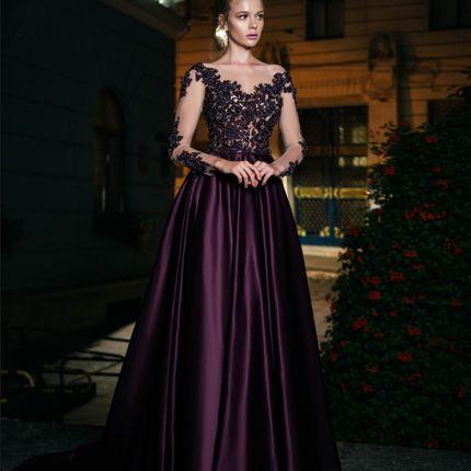 Вечернее платье со шлейфом А1601