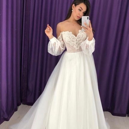 Платье со шлейфом А1608