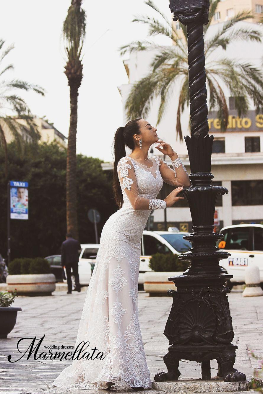 Платье со съемной юбкой А1668