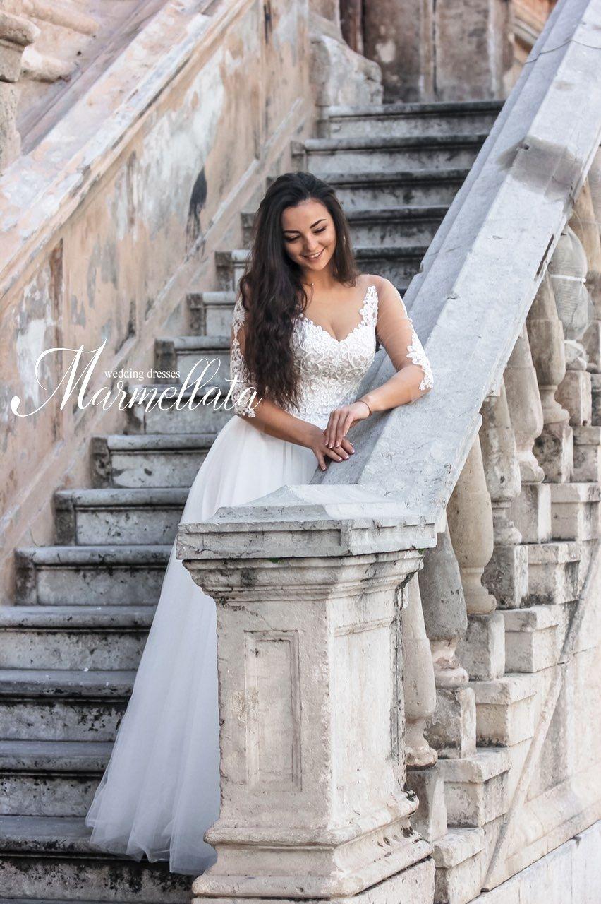 Платье с рукавами А1695