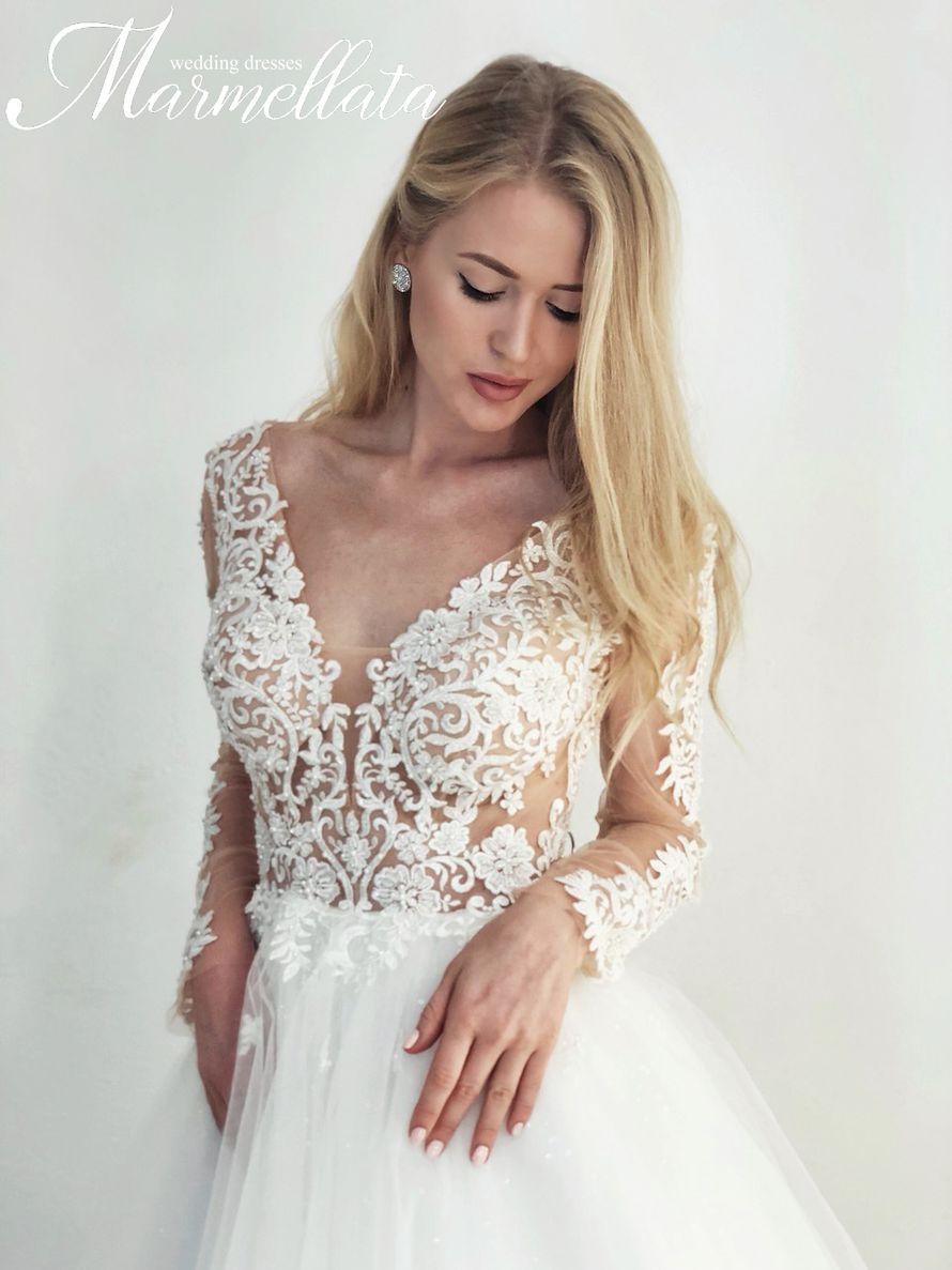 Платье с длинными рукавами А1729