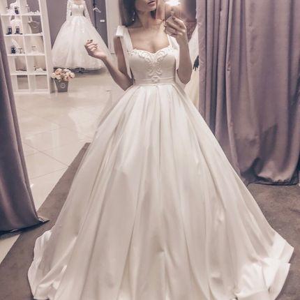 Платье атласное А1779