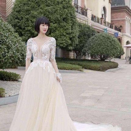 Платье с рукавами А1791