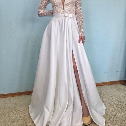 Платье с разрезом А1794 прокат