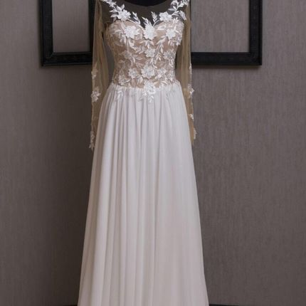 Свадебное платье с рукавами А1849
