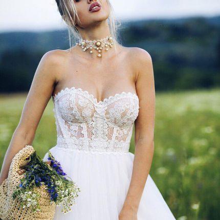 Платье без бретелей А1853
