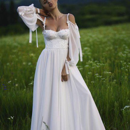 Платье с рукавами А1855