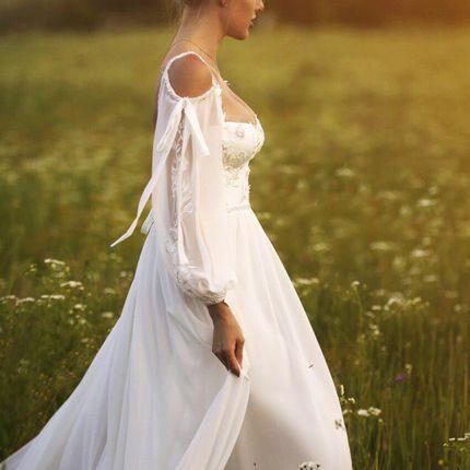 Платье с рукавами А1869