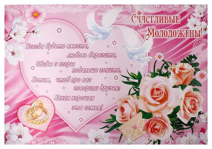 Поздравления на свадьбу фото с плакатом 694